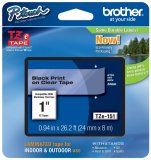 Brother TZe-151 1 In. Black On Clear P-touch Tape