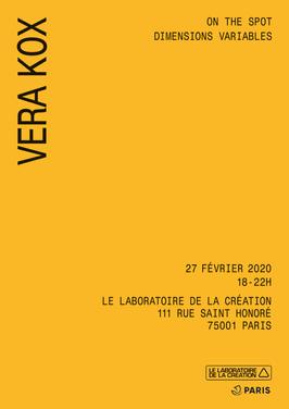 VERA KOX @LABORATOIRE DE LA CREATION