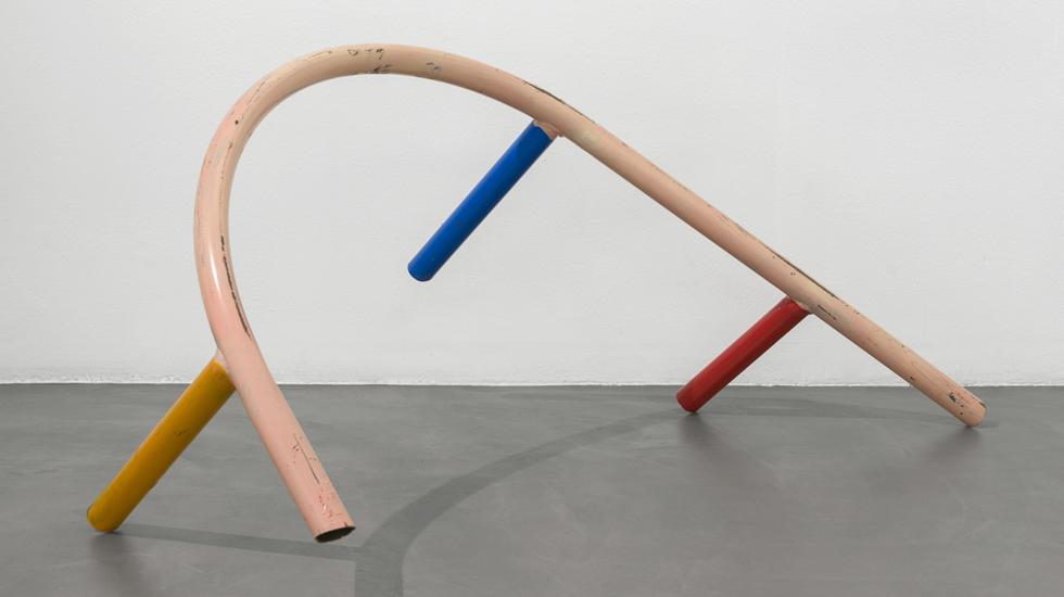 Przemek Pyszczek, Playground Fragment, 2018, lacquered steel, 58x124x45 cm