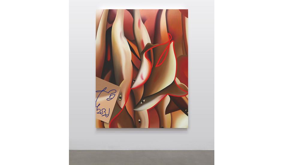 Stefano Perrone, Pescato del giorno, 2019, olio su tela, 180x140cm