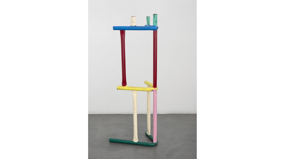 Przemek Pyszczek, Playground Fragment, 2018, lacquered steel, 146x51x52 cm