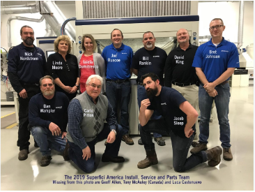 superfici america install, service and parts team for 2019