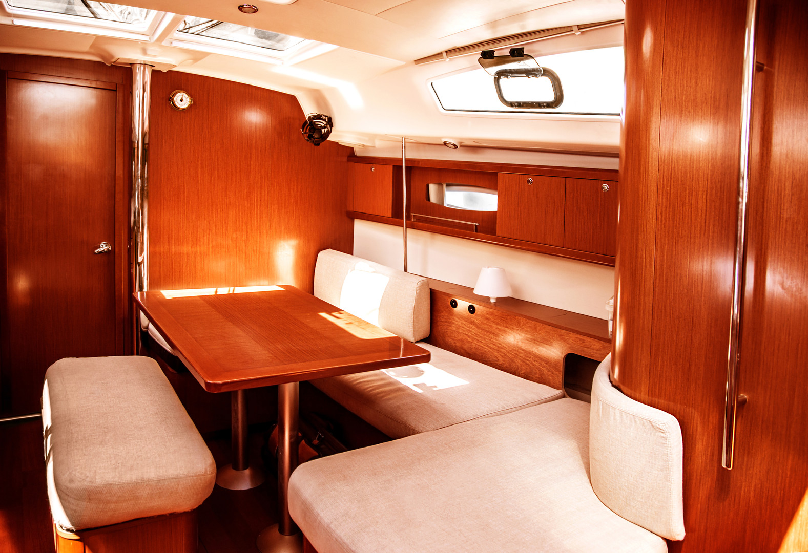 Image of luxury ship interior, comfortab