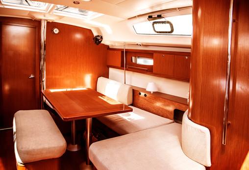 Image of luxury ship interior, comfortab