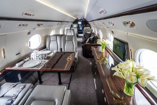 Luxury interior in the modern private bu
