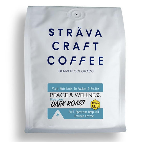 RESTORE DARK ROAST - HEMP OIL INFUSED COFFEE (120MG CBD PER 12OZ BAG)