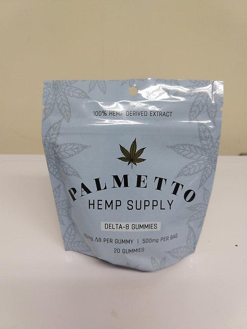 Palmetto Delta 8 Gummies, 25 mg per gummy, 20 gummies