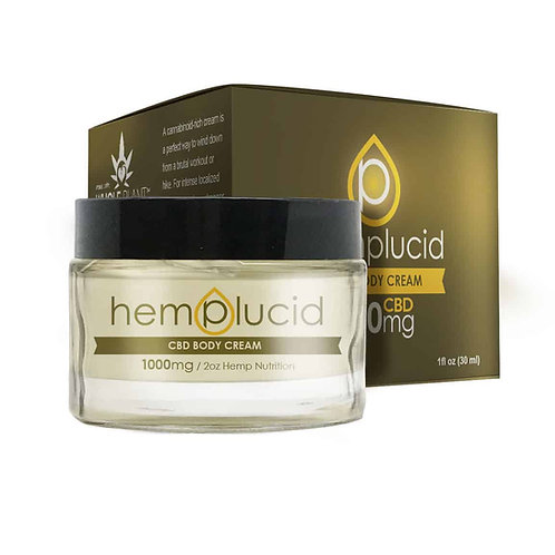 Hemplucid Whole-Plant CBD Body Cream (500mg)
