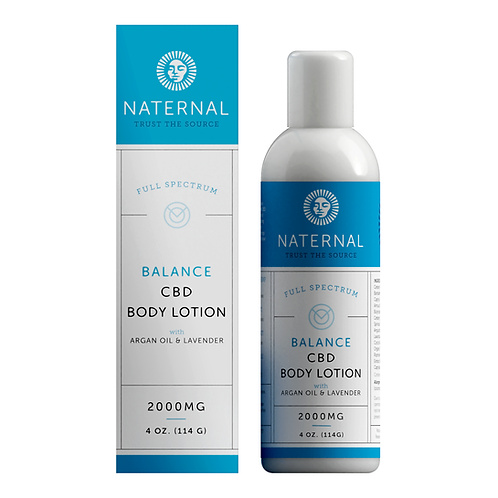 Naternal Balance Body Lotion (2000mg CBD)
