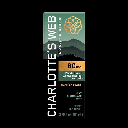 Charlotte's Web Max 60MG 100mL Mint Chocolate Tincture