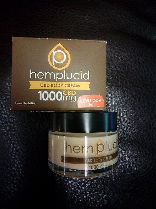 Hemplucid Whole-Plant CBDA and CBD Body Cream (1000mg)