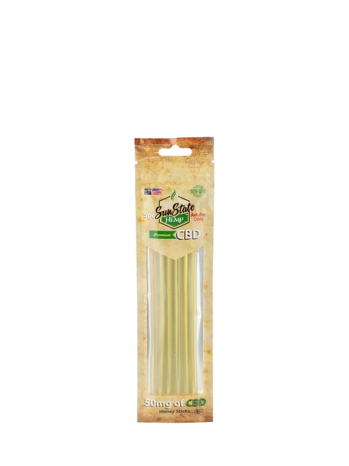 CBD Infused Honey Sticks.