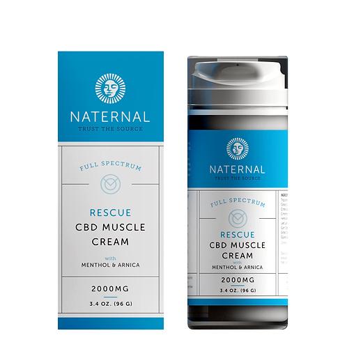 Naternal Rescue Muscle Cream (2000mg CBD)