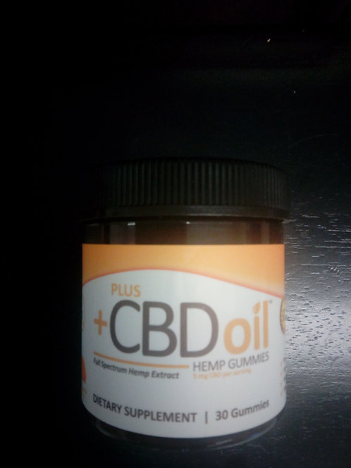 Plus CBD Oil Hemp Gummies 5mg per serving