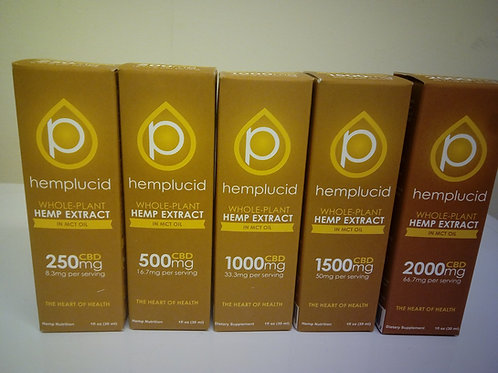 Hemplucid Whole-Plant Hemp Extract (Tincture) In MCT Oil