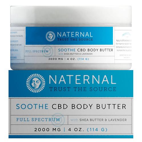 Naternal Soothe Body Butter (2000mg CBD)