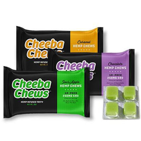 CheebaChews Hemp Infused Taffy Sour Apple