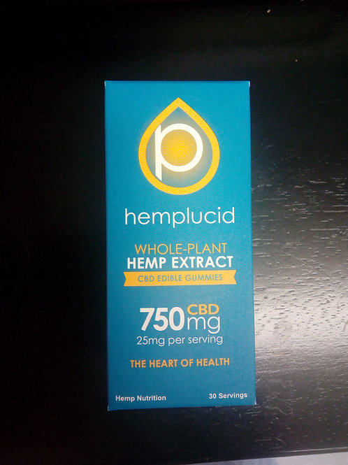 Hemplucid Whole-Plant CBD Gummies 25mg per serving