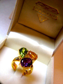 Gemstones from old jewelry in a brand new piece.