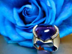 Custom heart shape ring.