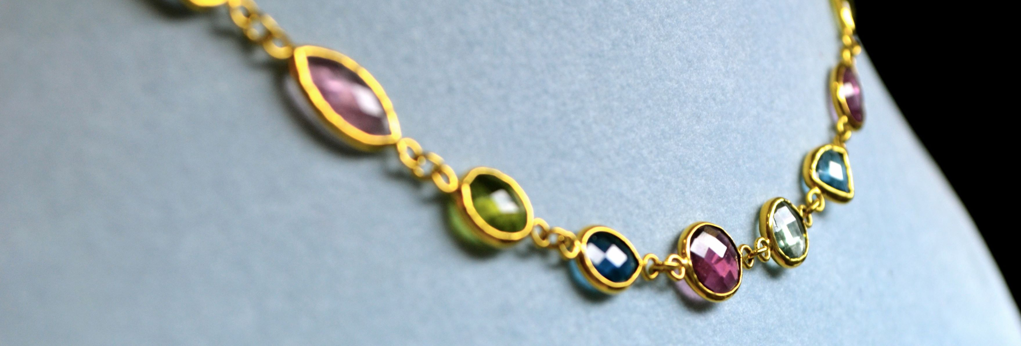 Custom chain with gemstones