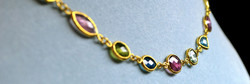 Custom chain with gemstones