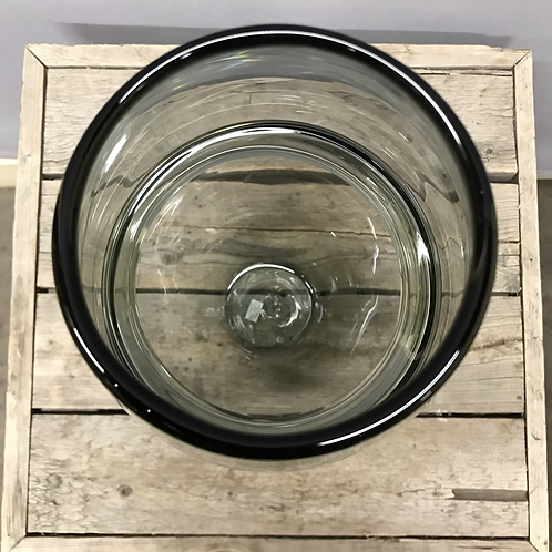 Saturn Ring Glass Bullet Vase - Smoke