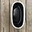 Thumbnail: Corsica Ceramic Crackle 2 Tone Oval Pot - White