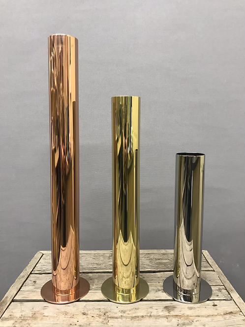 Stainless steel vases - Gold, Silver and Copper