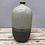 Thumbnail: Small Ceramic 2 Tone Oval Bottle Vase - Grey