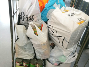Leicester Grammar School Collects Food for The Bridge's Community Cafe