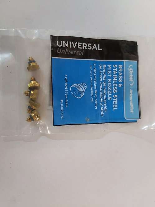 Nozzle brass misting 5 pack