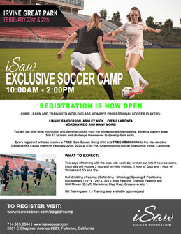 iSaw Soccer Camp Flyer
