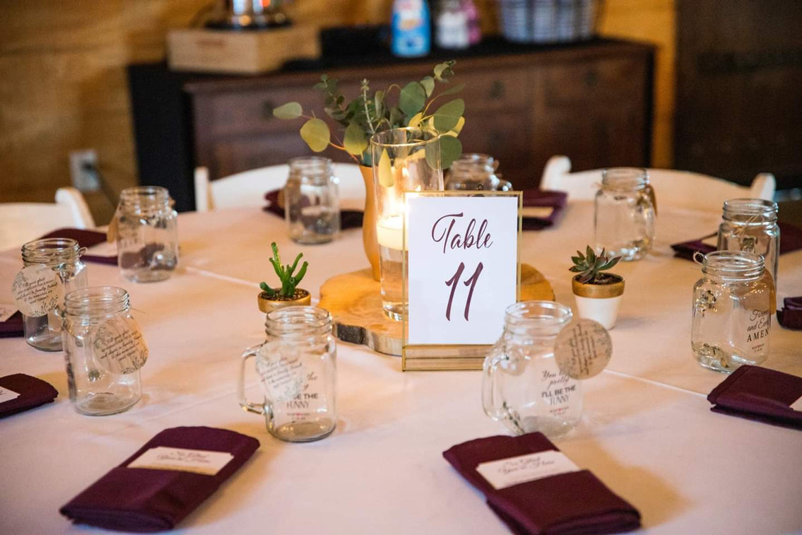Table Numbers & Thank You Cards