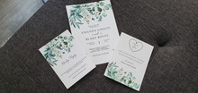 Boho Floral Sage Wedding Invitation Suite