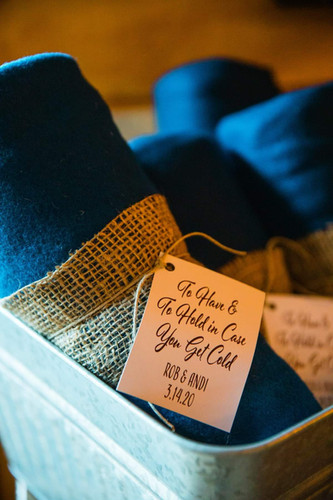 Blanket Favor Tags