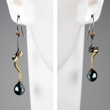 Pearl Bicolor Earrings