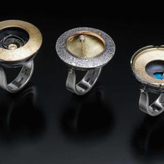 3 Krater Rings: Honeypot, Strata & Pool
