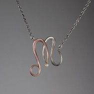 Forged Initial Pendant