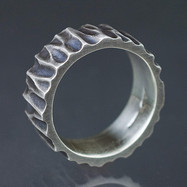 Heavy Hammered Sterling Band