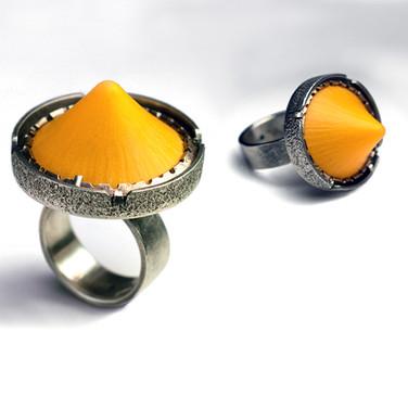 Orange Icecap Ring