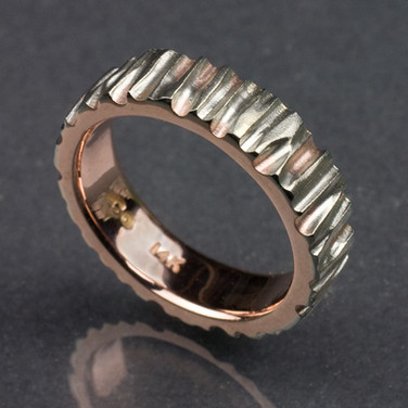Bicolored Heavy Hammered Band