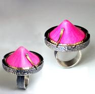 Pink Icecap Ring.