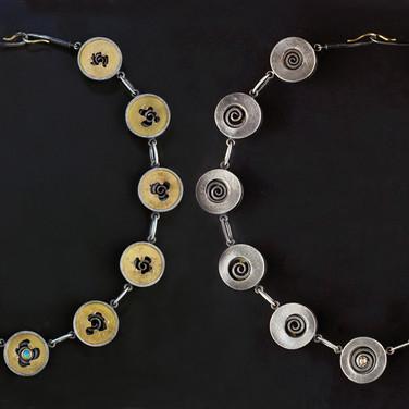 Two views of the neckpiece.