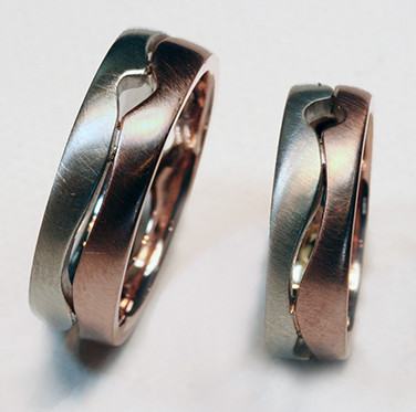 Bicolor Open Canyon Rings.