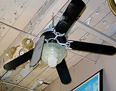 Sad, broken ceiling fan, Portland Or