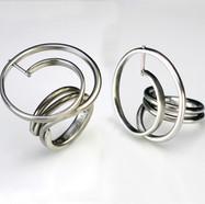 Smal Stainless Swirl Ring