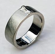 14k Palladium White Weld Bead Ring