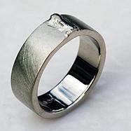 Palladium White Weld Bead Ring