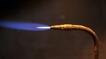 Oxy/Propane neutral flame.